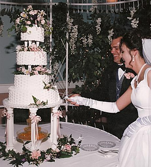 Wedding Couple and Cake